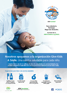 Give Kids A Smile poster in Spanish