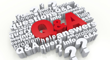 Illustration representing Q and A questions and answers