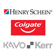 Henry Schein, Colgate, and DEXIS logos