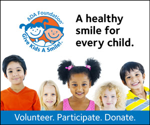 "GKAS square banner ad ""A healthy smile for every child"""