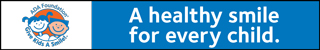 "GKAS horizontal banner ad ""A healthy smile for every child"""
