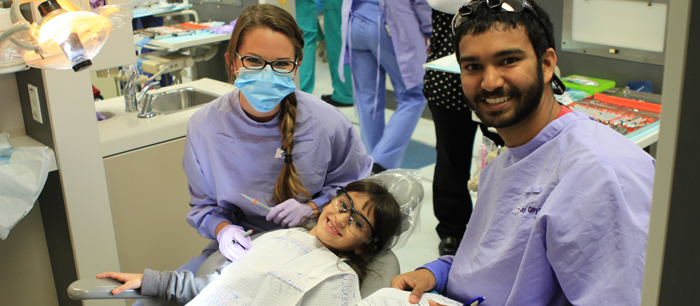 Photo of child receiving care at a Give Kids A Smile event