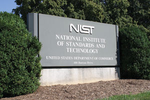 Photo of NIST sign National Institute of Standards and Technology